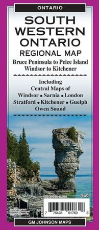 South Western Ontario Regional Map, Ontario, Canada.