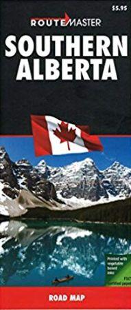 Southern Alberta Reginal Map, Canada.
