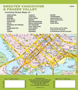 Vancouver & Fraser Valley Street ATLAS, British Columbia, Canada.
