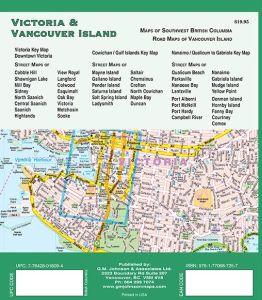 Vancouver and Vancouver Island Street ATLAS, British Columbia, Canada.