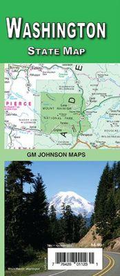 Washington State Road and Tourist Map, America.