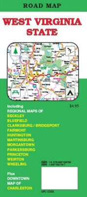 West Virginia Road and Tourist Map, America.