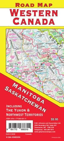 Western Canada Road and Tourist Map.