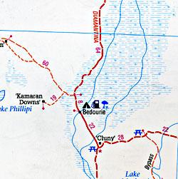 South Australia State, Road and Tourist Map, Australia.
