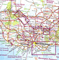 Australia Wine Road and Tourist Map.