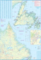Atlantic Canada Travel Reference Map.