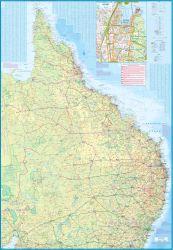 Brisbane and Queensland Road and Tourist Map, Australia.