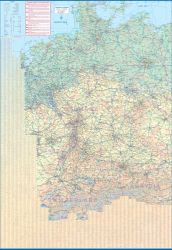 Central Europe Road and Physical Travel Reference Map.