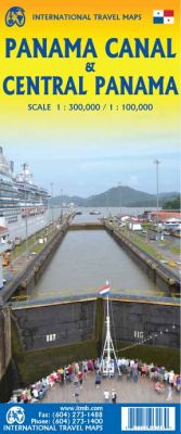Panama Canal and Central Panama Road and Physical Travel Reference Map. 1st Edition