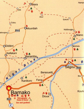 Sahara Tourist Road and Physical Travel Reference Map.