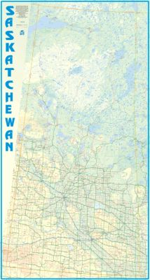 Saskatchewan WALL map, Canada.