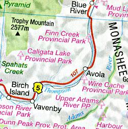 Alberta Recreation Road and Tourist Map, Canada.