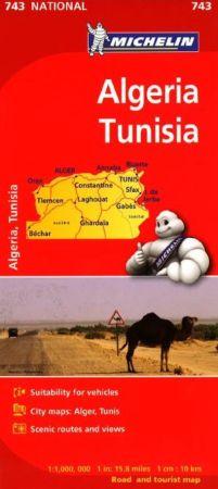 Algeria and Tunisia Road and Tourist Map.