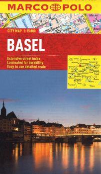 Basel City Street Map. Marco Polo edition.