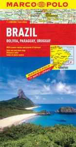 Brazil, Bolivia, Paraguay and Uruguay Road and Tourist Map. Marco Polo edition.