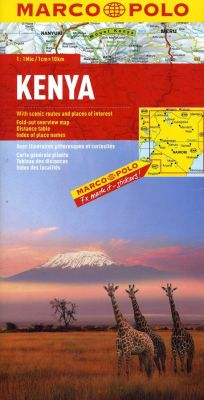 Kenya Road and Tourist Map. Marco Polo edition.