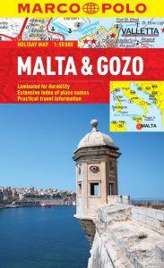 Malta and Gozo Road Map Tourist Map, Mediterranean. Marco Polo edition.