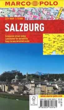 Salzburg City Street Map. Marco Polo edition.