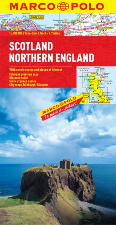 Scotland and Northern England Road and Tourist Map. Marco Polo edition.