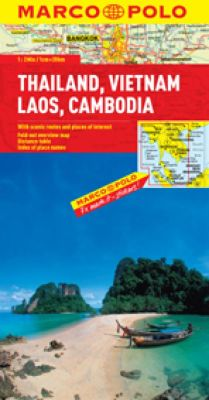 Thailand, Vietnam, Laos and Cambodia Road and Tourist Map. Marco Polo edition.