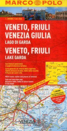 Veneto, Friuli and Lake Garda Region. Marco Polo edition.