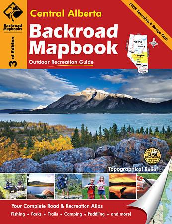 Alberta Central Map Book, Road and Recreation ATLAS, Canada.