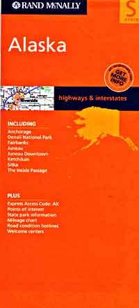 Alaska Road and Tourist Map, America.