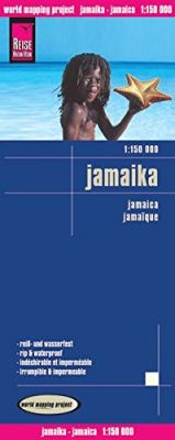 Jamaica Road and Topographic Tourist Map.