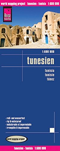 Tunisia Road and Topographic Tourist Map.