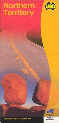 Northern Territory, Road and Tourist Map, Australia.