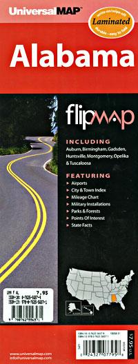 "Alabama ""Flipmap"" Road and Tourist Map, America."