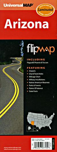 "Arizona ""Flipmap"" Road and Tourist Map, America."