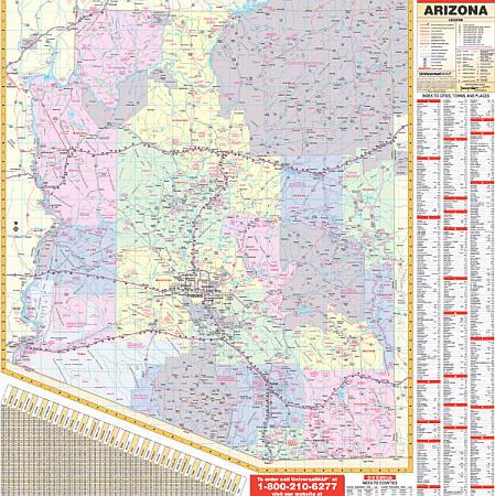 Arizona WALL Map.