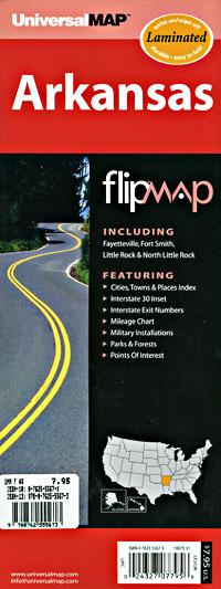 "Arkansas ""Flipmap"" Road and Tourist Map, America."