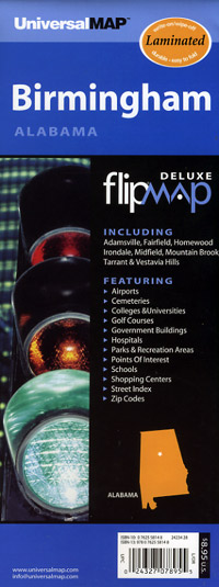 "Birmingham ""Flipmap"", Alabama, America."