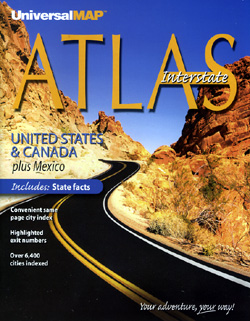 United States, Canada and Mexico Road and Tourist ATLAS.
