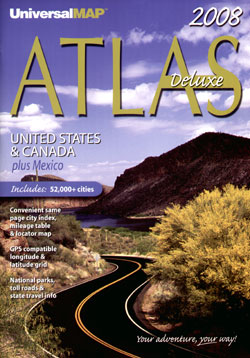 """United States, Canada and Mexico """"North America"""" Road and Tourist ATLAS."""