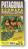 Patagonia Ecomapa, Road and Tourist Map, Argentina.